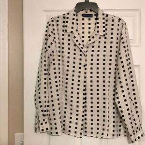 Black and white block blouse!